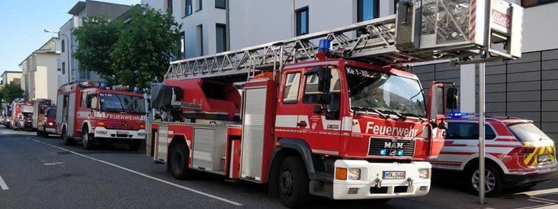 Ausgelöste Brandmeldeanlage