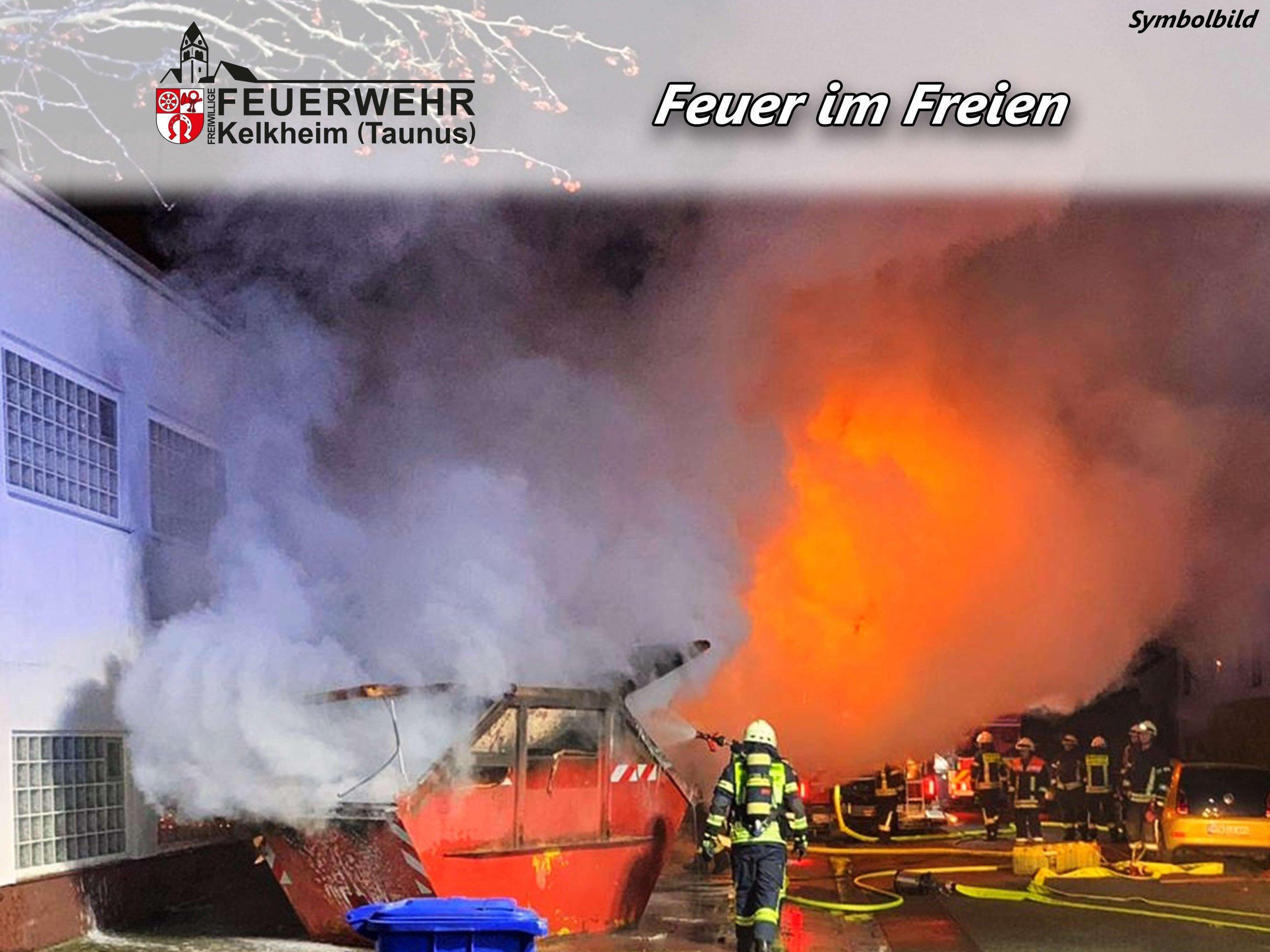 Brand am Gebäude