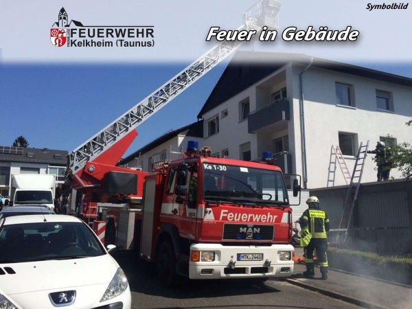 Feuer in Gebäude