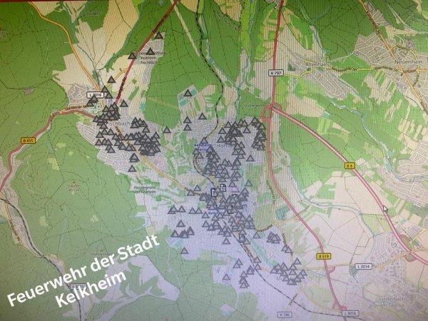 Extreme Unwetterlage in Kelkheim