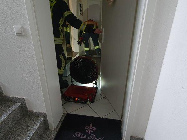 Gemeldeter Wohnungsbrand