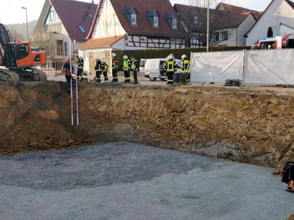 Beschädigte Gasleitung