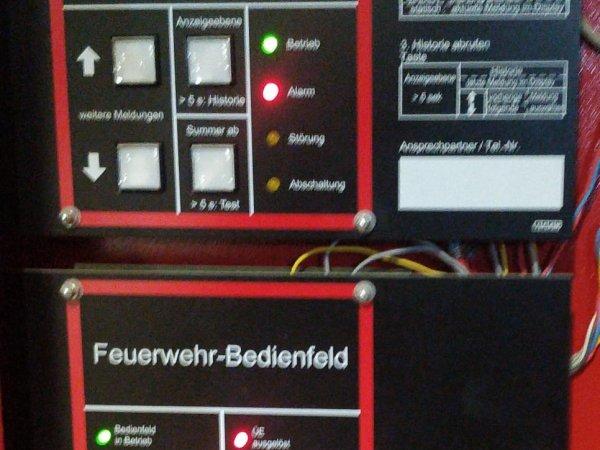 Brandmeldeanlage in Alarm